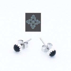 Jewelry - Onyx Navajo Sterling Studs SP0046